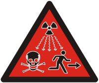 Radioaktiv strålning ny skylt